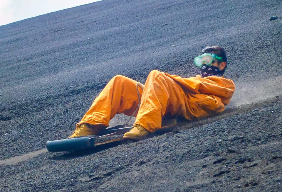 things to do in Nicaragua - volcano boarding