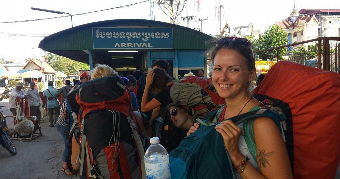 Randi at the Cambodian Border