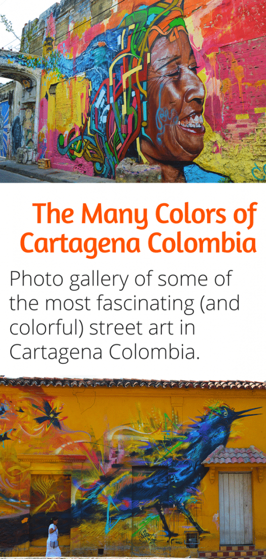 The Streets of Cartagena are as colorful as the city's vibe is! Here is a photo gallery of some of the best street art in Cartagena Colombia!