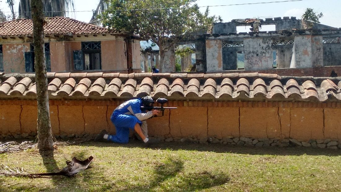 things to do in guatape colombia, paint ball in Pablo Escobar's mansion