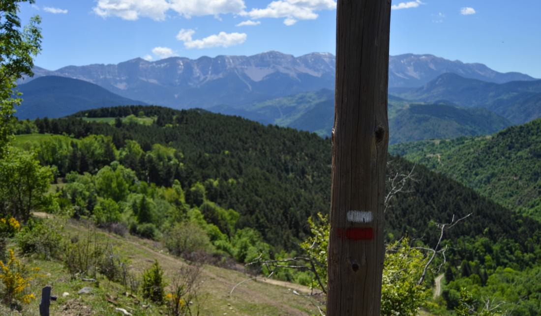These are the trail markers you will be following along the Cami dels Bons Homes.