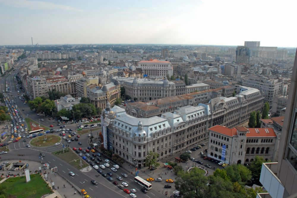 """""""Bucharest Cityscape"""" by 270 Fan is licensed under CC BY 2.0"""