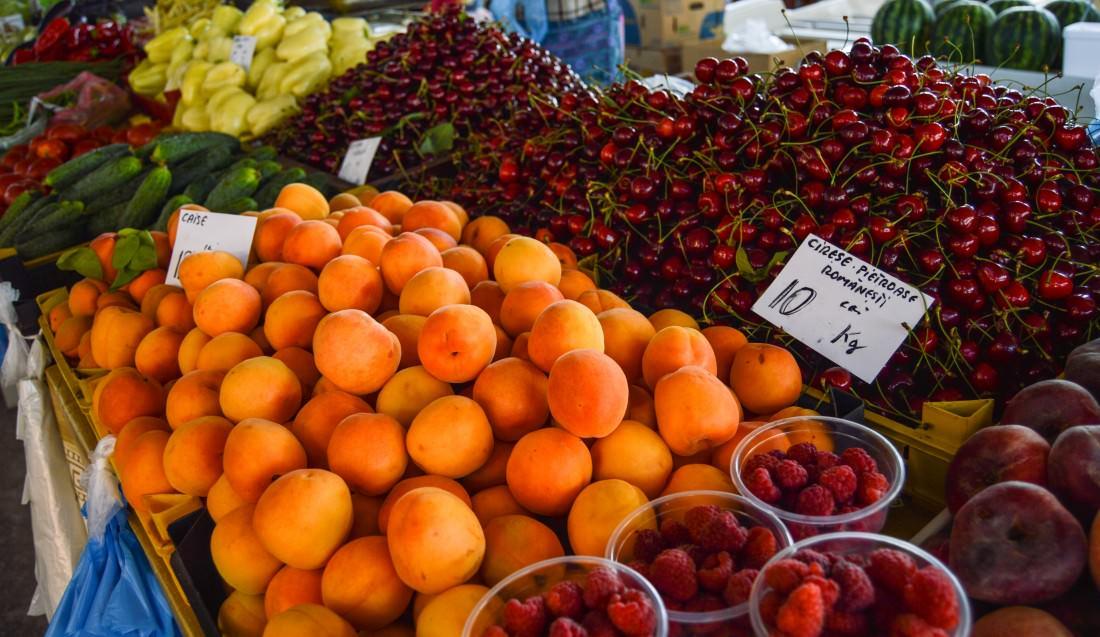 farmer's market in Bucharest, Romania