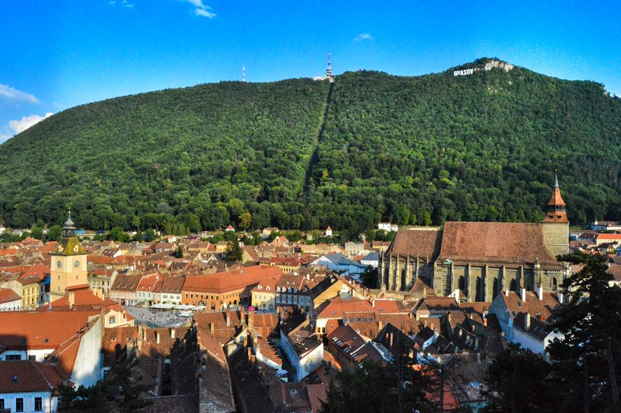 View form the White Tower in Brasov, Romania