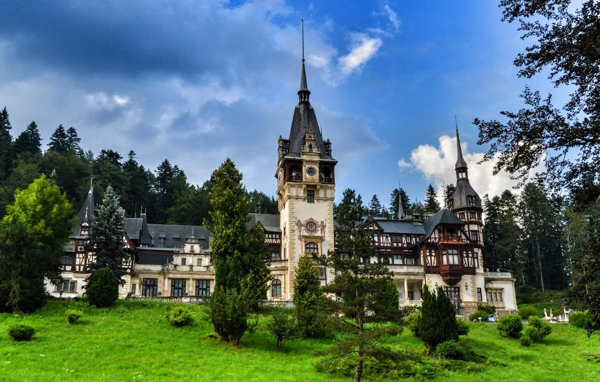 Magnificent Peles Castle in Romania