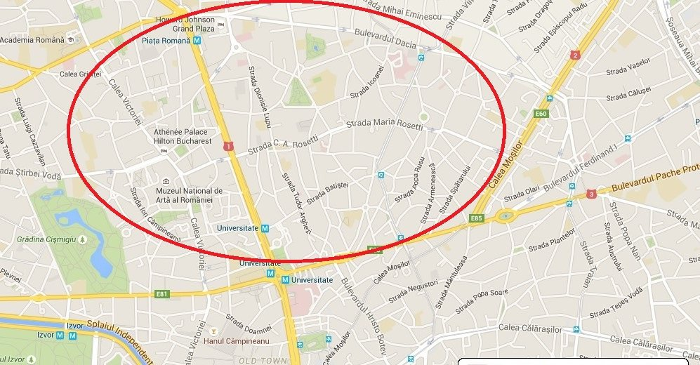 self guided walking tour Bucharest map