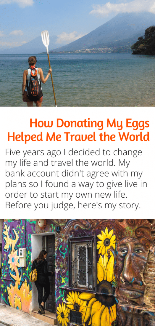 Five years ago I decided to travel the world, but my bank account needed a boost. So I was looking for was to make money. Before you judge here's my story about the entire egg donation process and how it changed my life. #eggdonation #travel #ivf