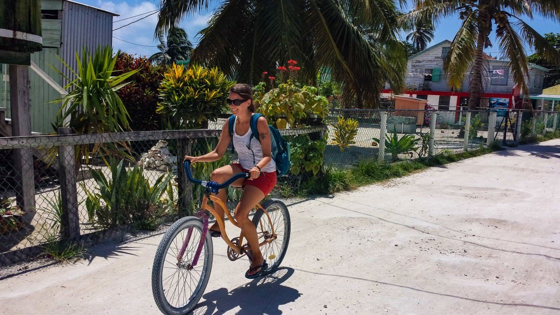 Caye Caulker Belize, biking in caye caulker
