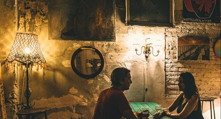 things to do in budapest - szimpla kert ruin pub at night