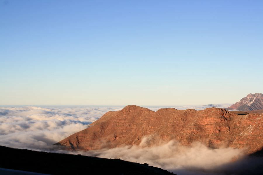 Landscapes in Morocco, Above the clouds High Atlas