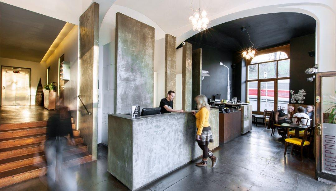 Czech Inn reception Best Hostels in Prague