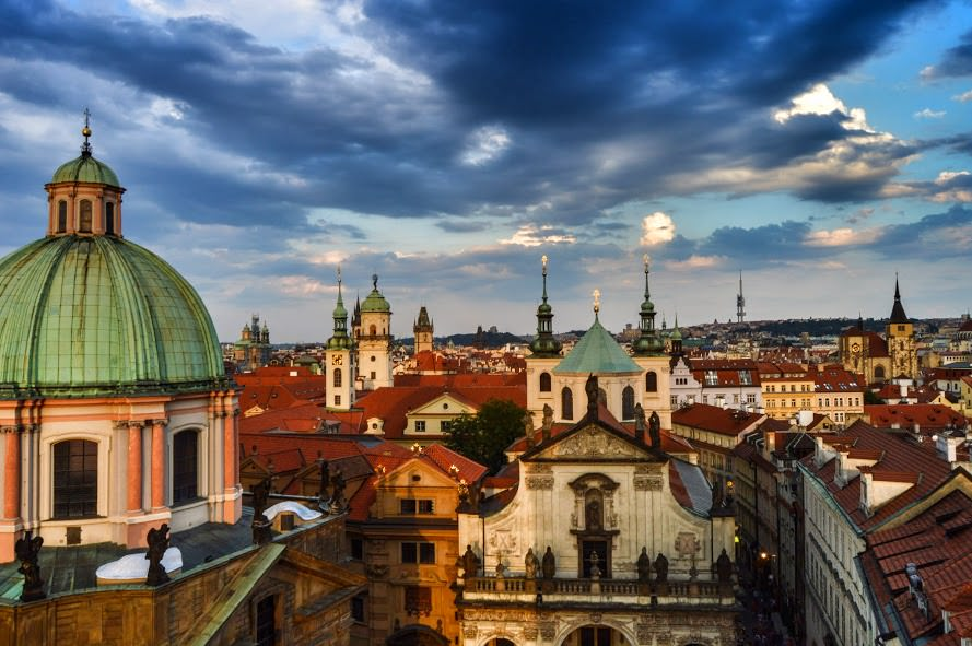 Prague's Rooftops and Spires