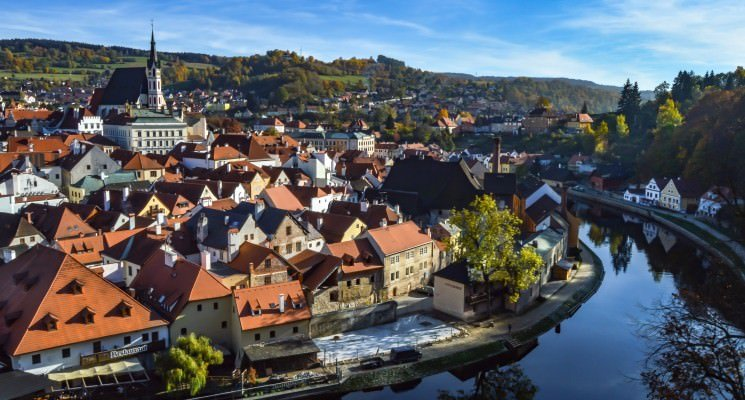 Day trips from Prague - Cesky Krumlov in Autumn