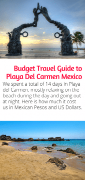 Playa del Carmen Budget Guide - Skip the all inclusive resorts and visit Playa del Carmen Mexico on a budget! Here's how much we spent in 14 days. Click to start planning today. #mexico #travel #playa #beach #budgettravel