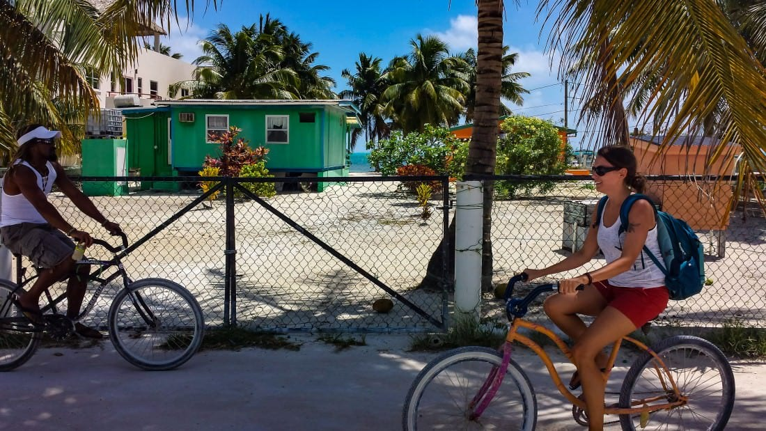 responsible tourism ride a bicycle in cay caulker belize