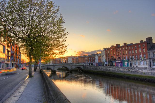 sunset in dublin, things to do in Dublin Ireland