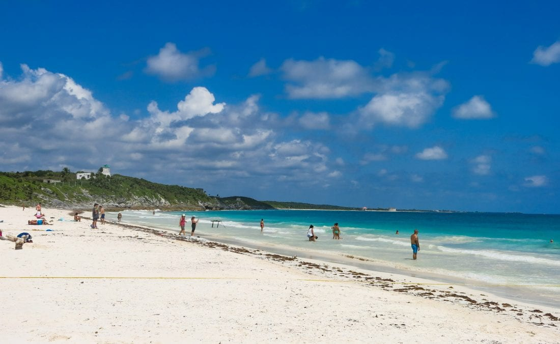 Tulum beach, things to do in plaaya del carmen mexico