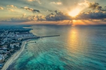 sunset in playa del carmen best hostels in playa del carmen mexico