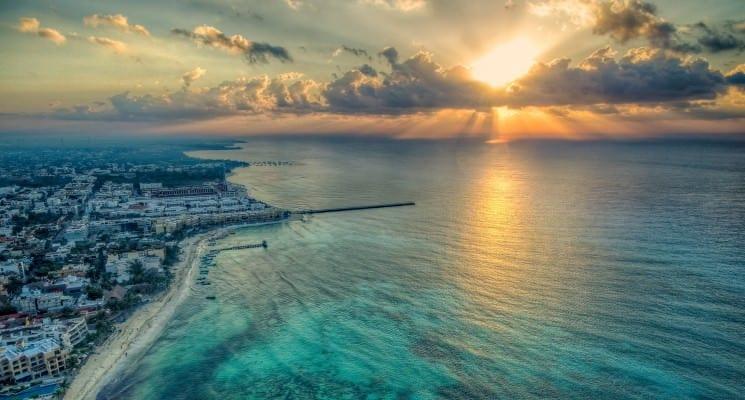 sunset in playa del carmen best hostels in playa del carmen mexico