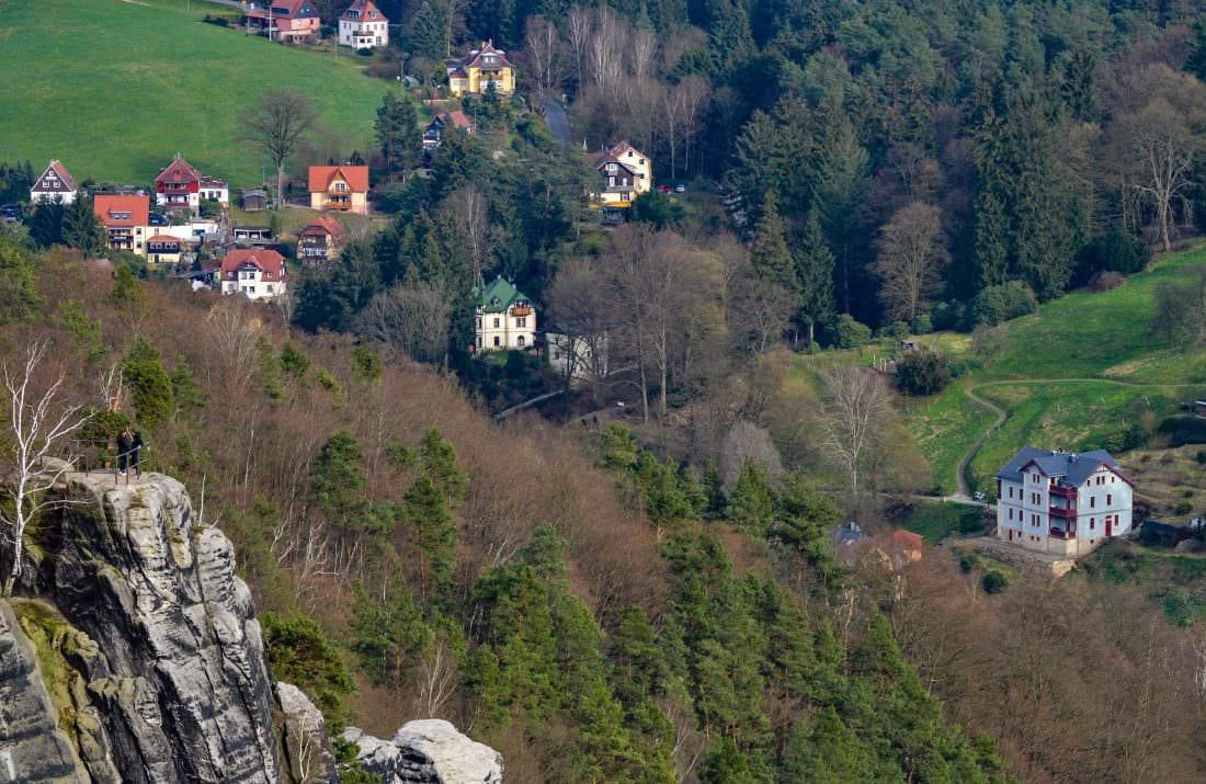 view from Bastei, Saxon Switzerland