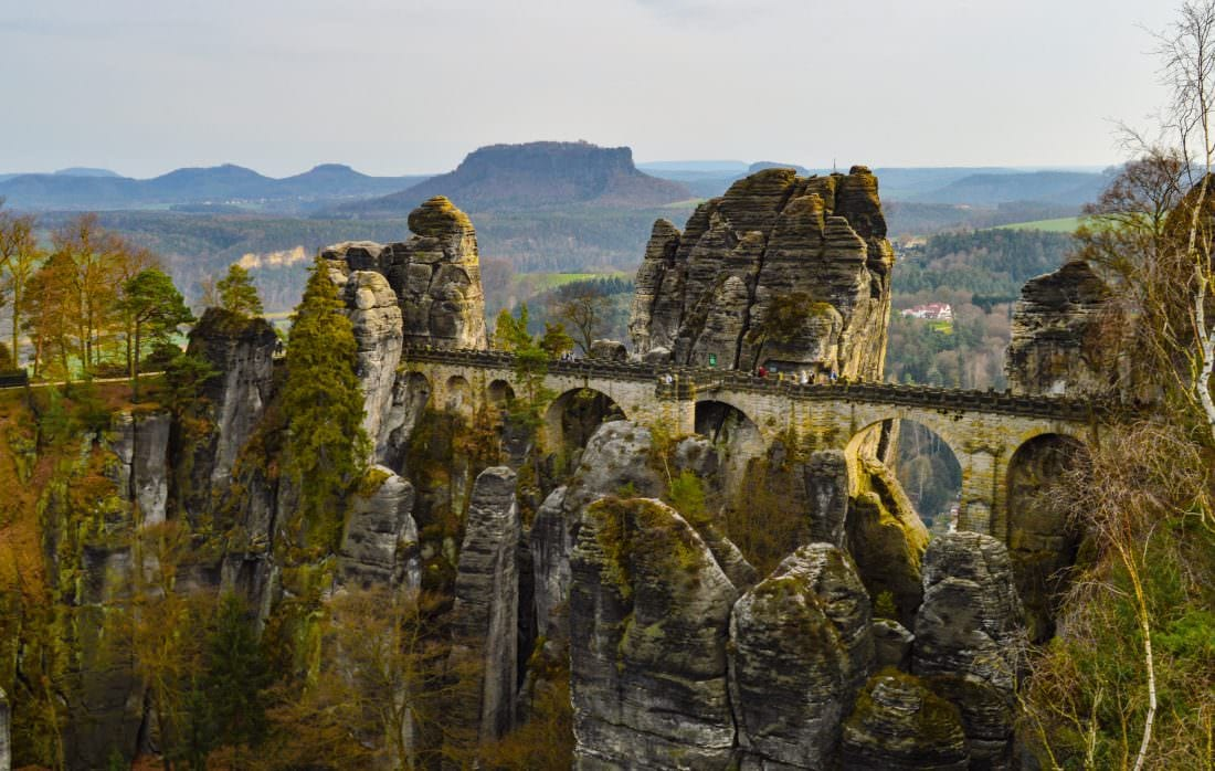 Day Trips from Prague Bastei Bridge Saxon Switzerland