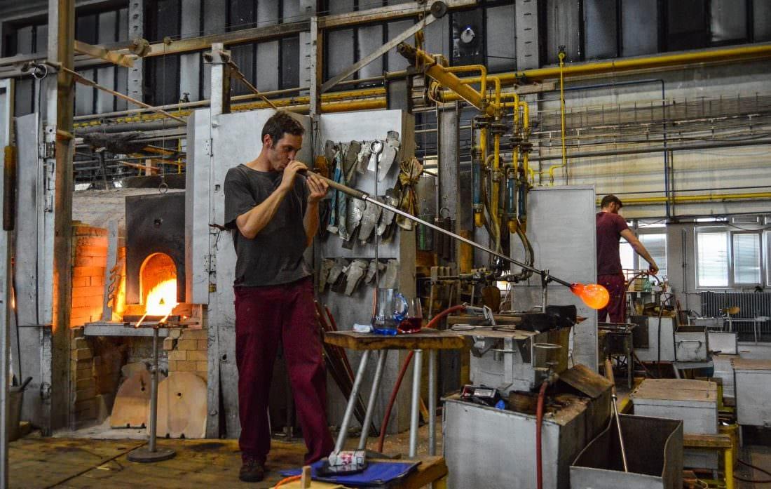 Moser Glassworks Factory