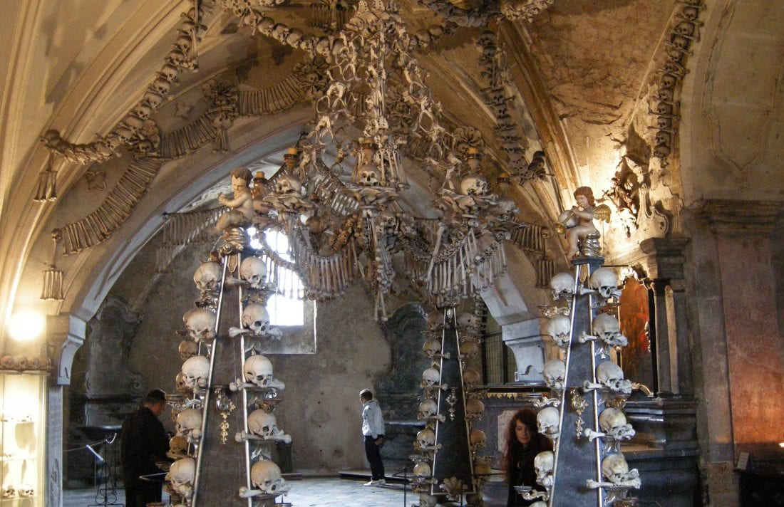 the Interior of the Kutna Hora Bone Church