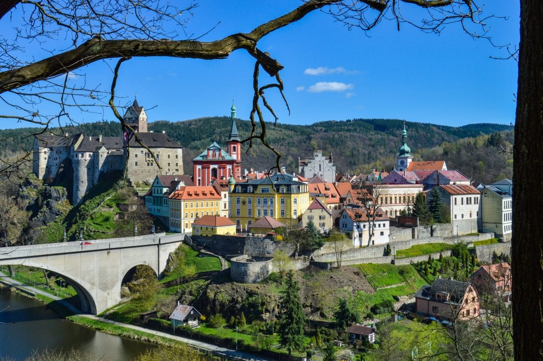 day trips from Prague, Loket and Loket Castle Czech Republic