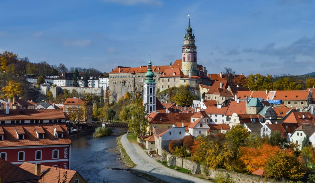 Cesky Krumlov Castle in the fall