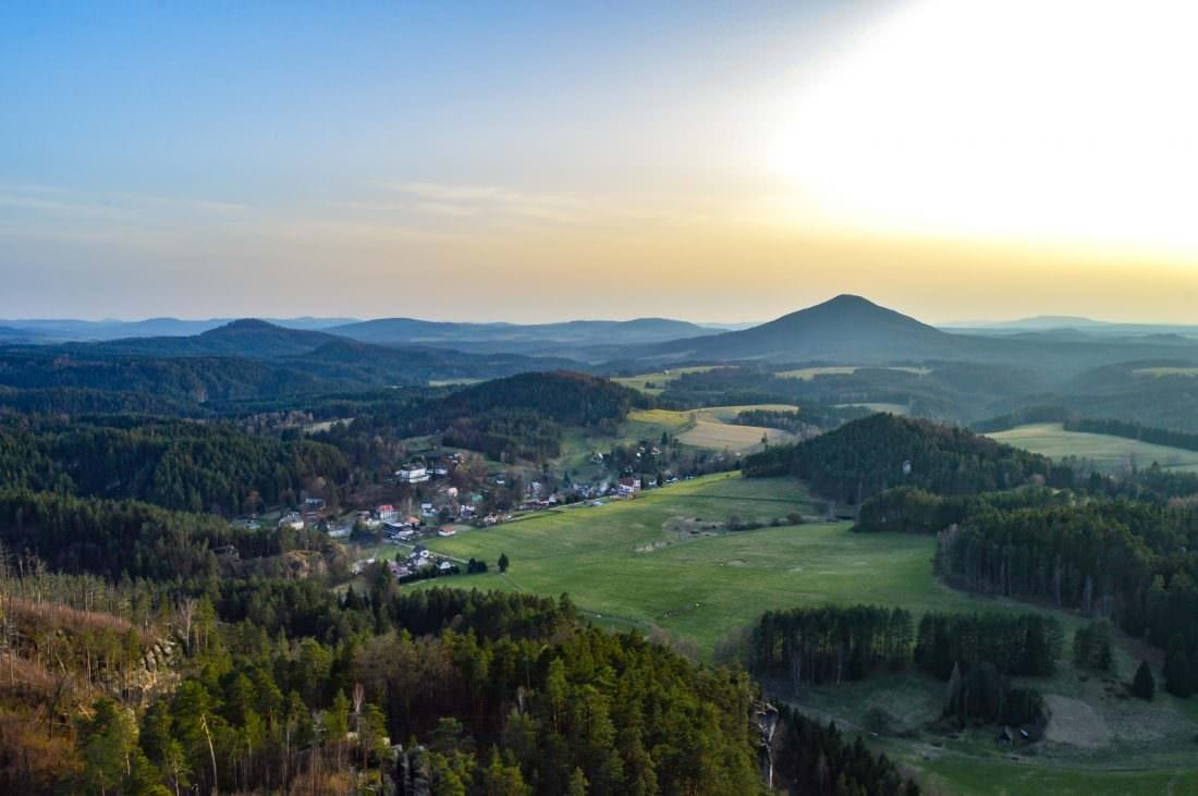Views of Bohemian Switzerland during Golden Hour