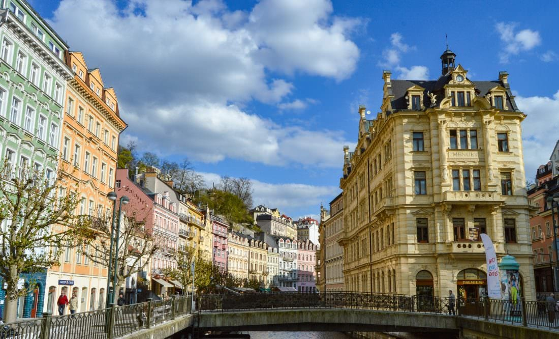 Buildings in Old Town Karlovy Vary