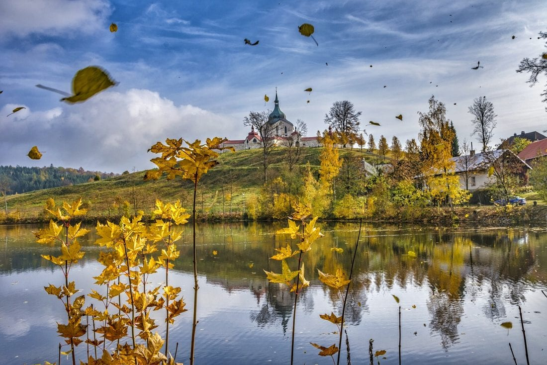 Zdar in vysocina during the fall on a day trip from Prague