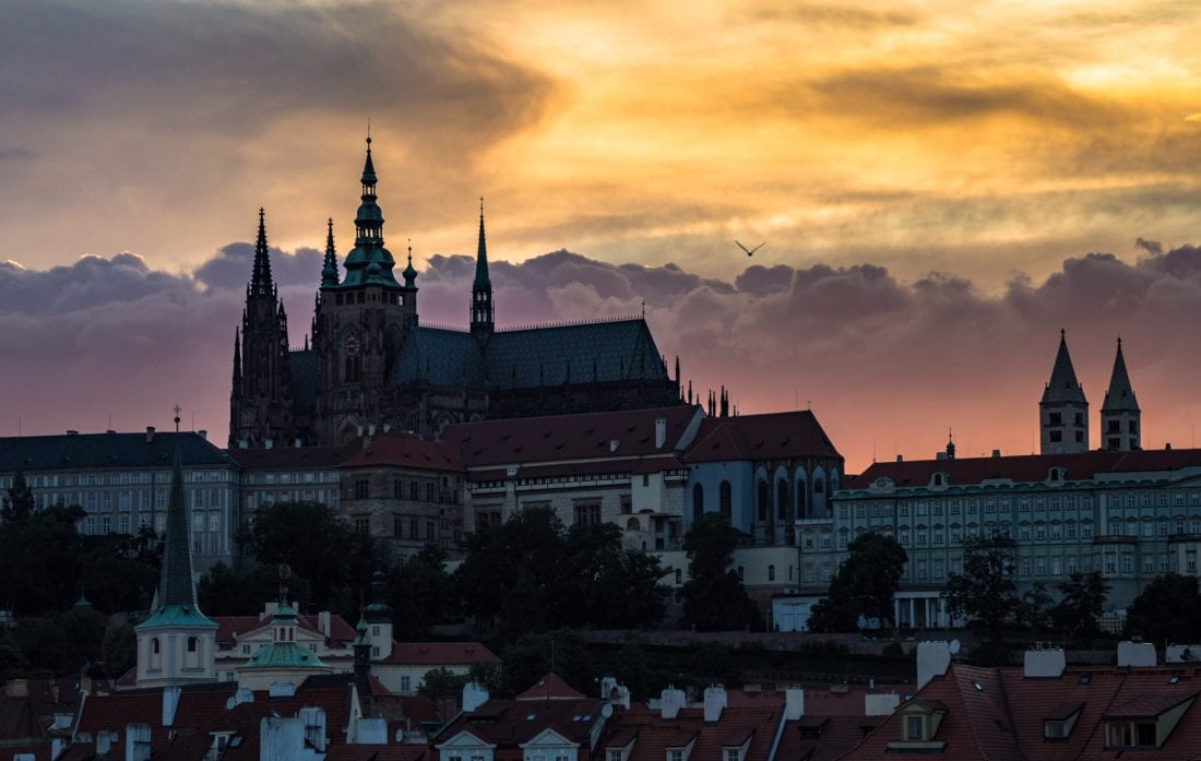 Prague Castle Sunset - Move to Prague