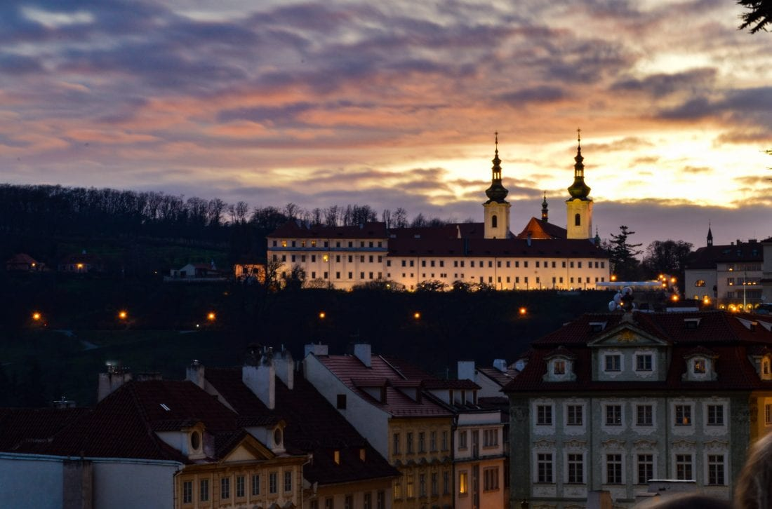 sunsets in Prague