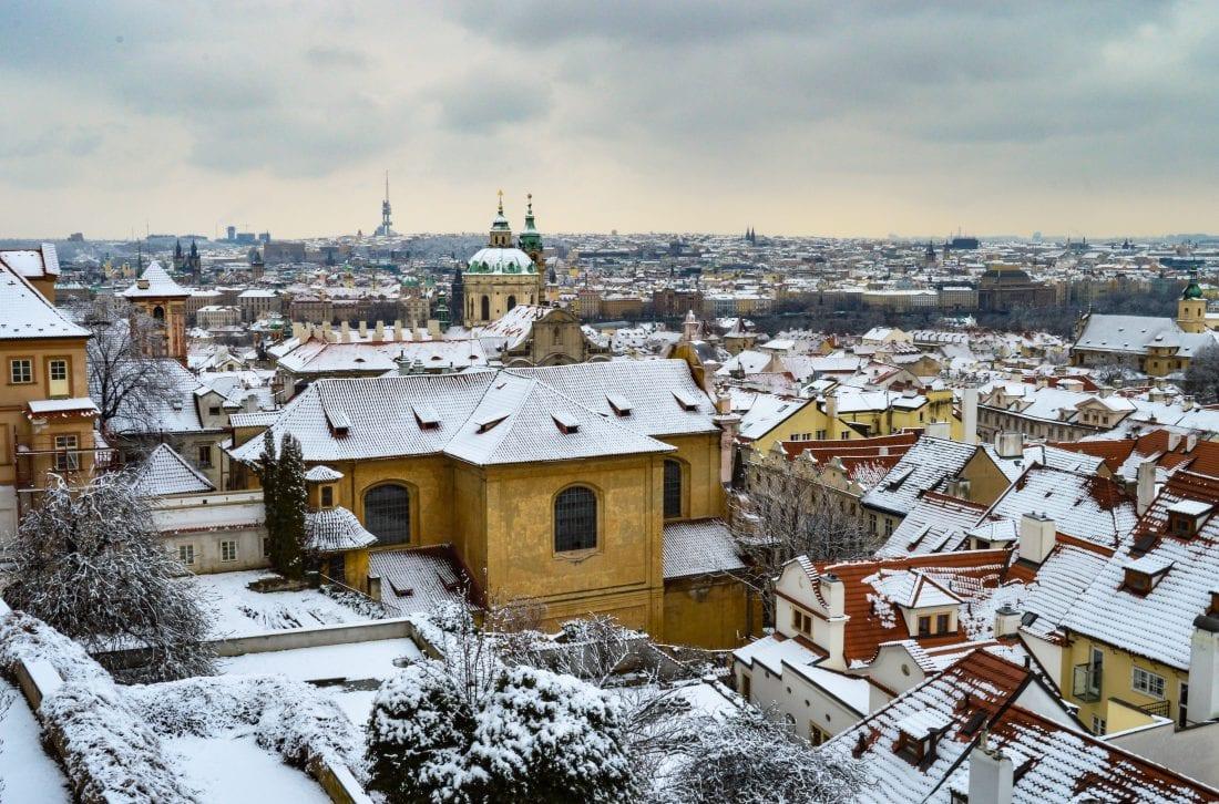 snow in Malastrana, Prague.