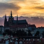 Prague Castle sunset