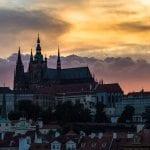 Prague Castle sunset