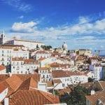 views of Lisbon from Miradouro de Santa Luzia