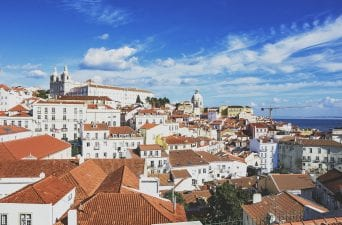 views of Lisbon from Miradouro de Santa Luzia