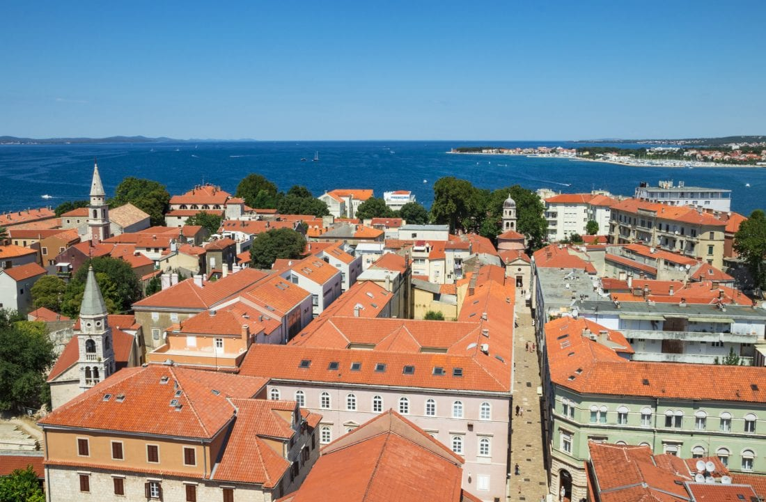 Zadar Croatia from up above