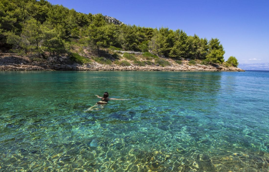 Things to do in Croatia - Swim in a secluded cove in Solta