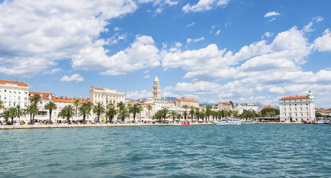 Old Town and Diocletian Palace in Split, Croatia