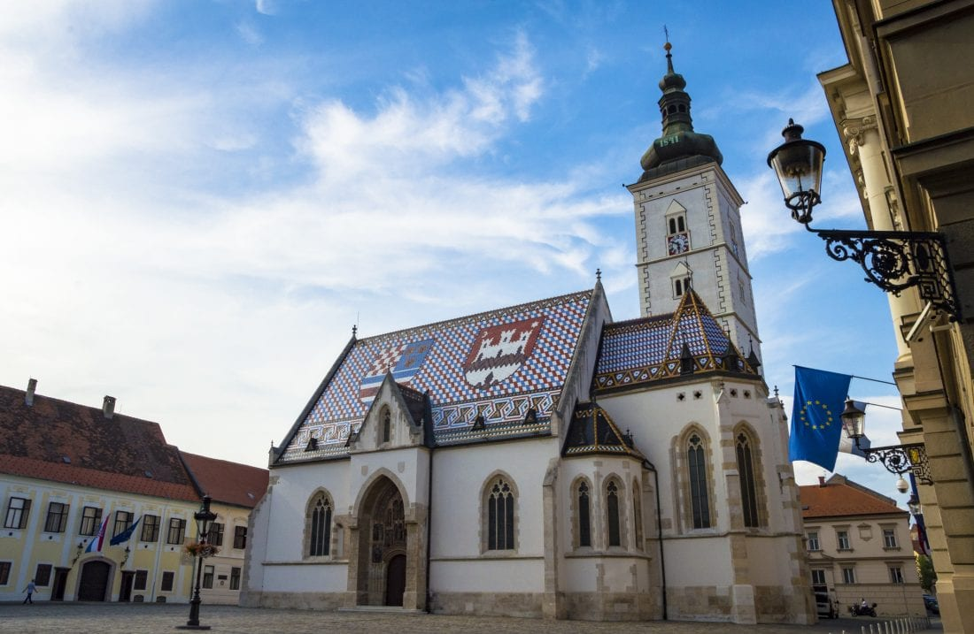 Things to do in Croatia - St Marks Church in Zagreb