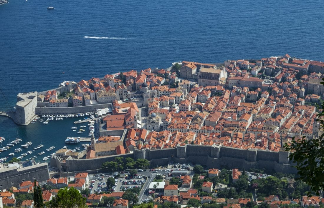 things to do in dubrovnik - Views from Dubrovnik Croatia via cable car
