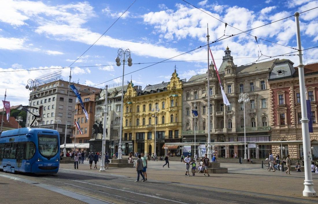 Ban Jelačić Square Old Town Zagreb, Croatia