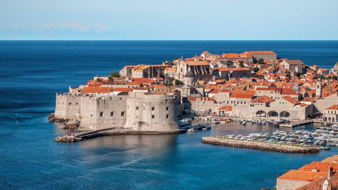 Travel Croatia -View of Dubrovnik