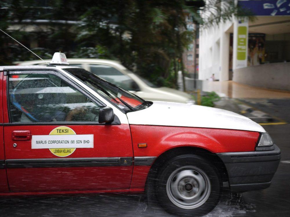 A budget taxi in Kuala Lumpur