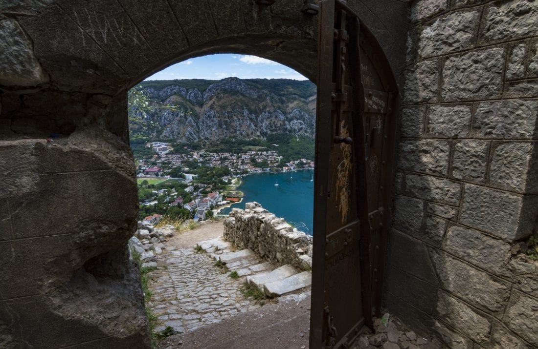 hiking the walls above Kotor