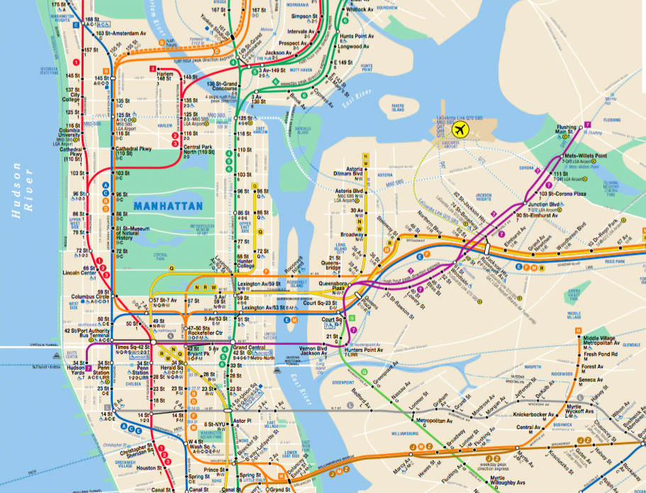 Tips For Riding The New York City Subway System Just A Pack: Subway New York City Map At Slyspyder.com