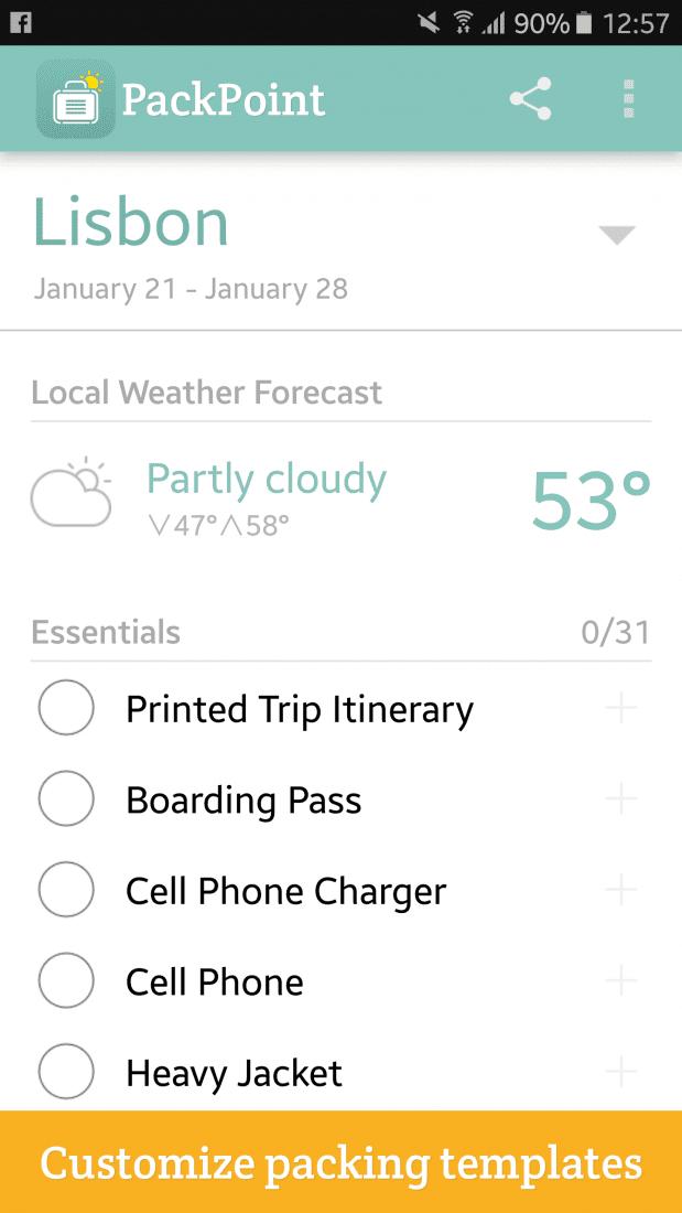 Best Packing App for Travel